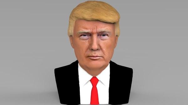 president donald trump bust 3D