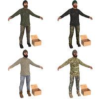 3D model pack beggar man