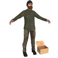 beggar man 3D model