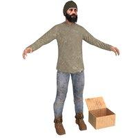 beggar 3 man 3D model