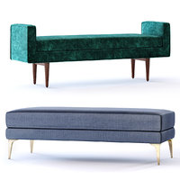 West Elm Andes and Landry Bench