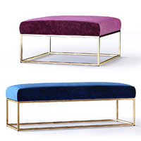 West Elm Box Frame Upholstered Ottoman and Bench