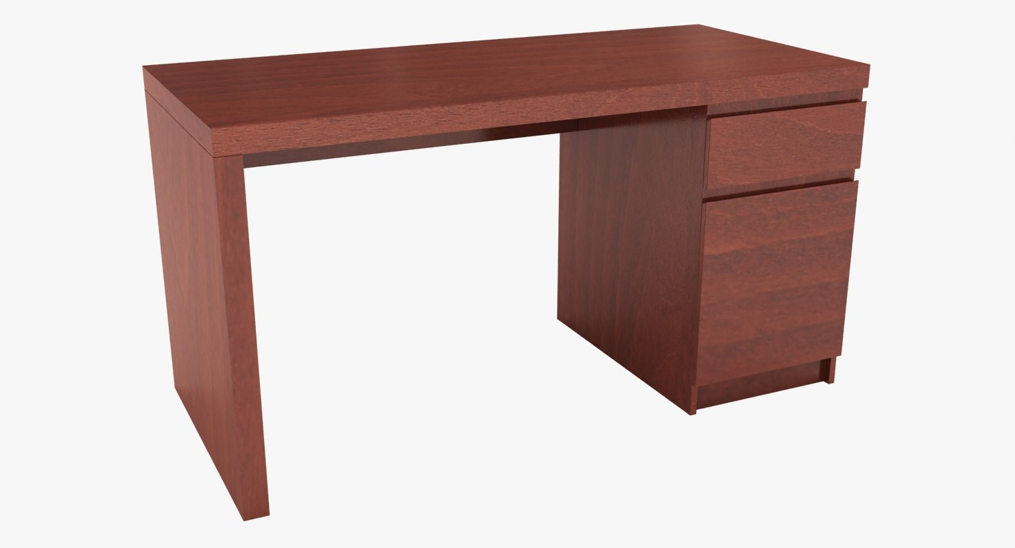 realistic ikea malm desk 3D model