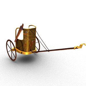 3D egyptian chariot