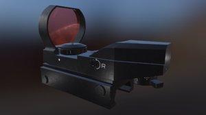reflex scope 3D model