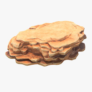 3D model blocky stone