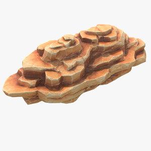 blocky rock games 3D model