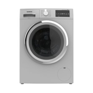 washing machine load silver 3D model