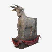 3D bull persepolis model