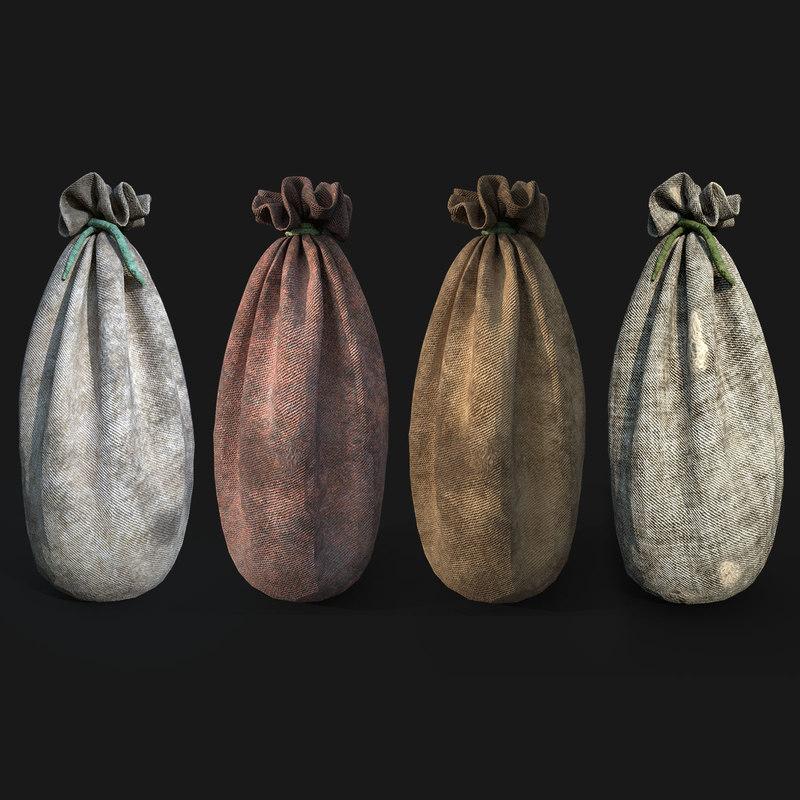 3D sac sack model