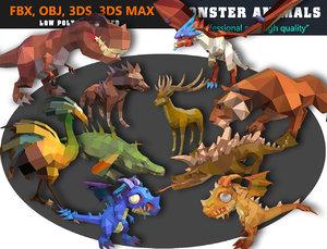 3D model animal cartoon -