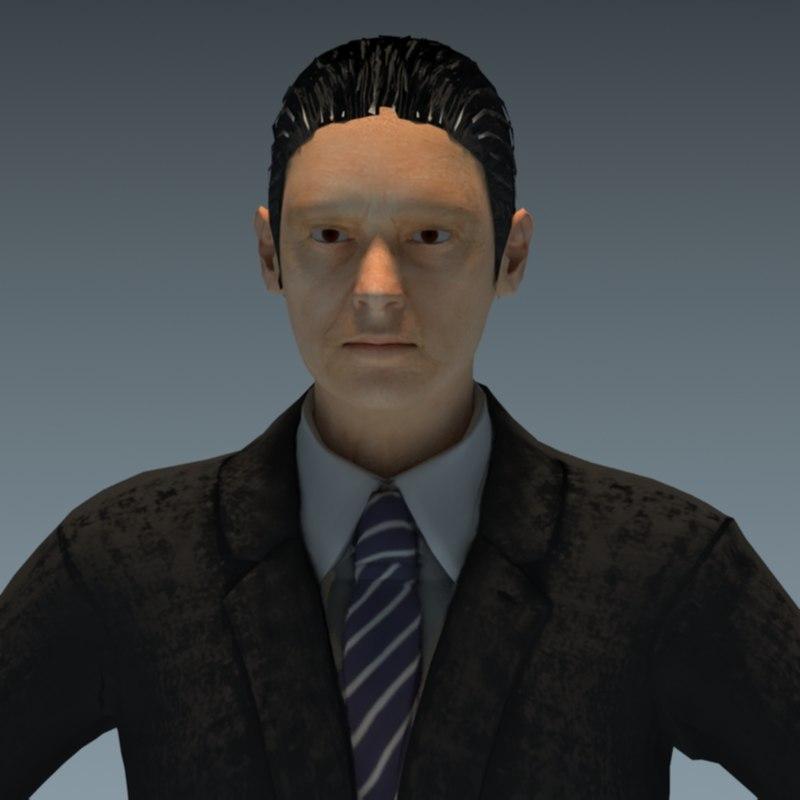 3D business man model