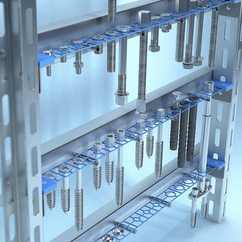 bolts screws set 3D model