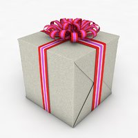 gift box cube model