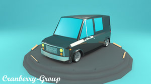 3D model cartoon van