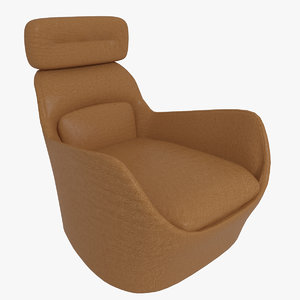 3D leather armchair model