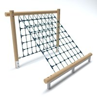 3D wooden playground net