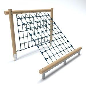 3D wooden playground net