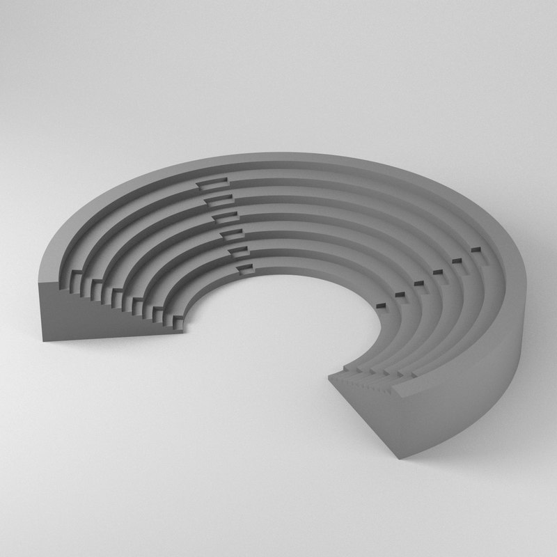 3D simple amphitheater model