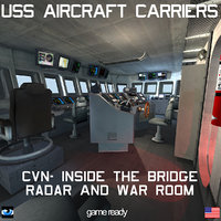 3D uss cvn aircraft carrier