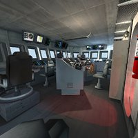 USS CVN Aircraft Carrier inside