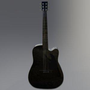 3D pbr guitar model