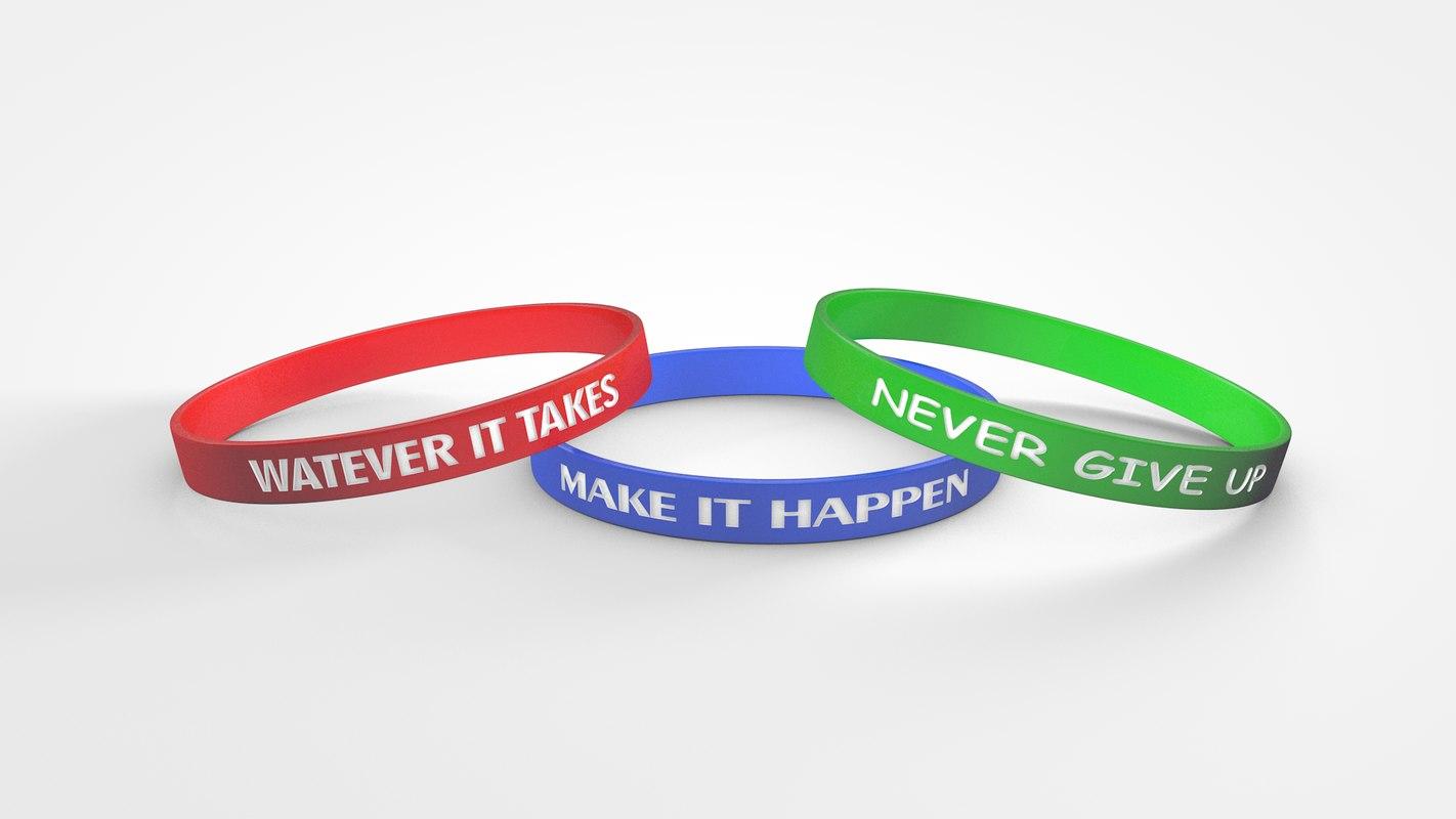 wristbands editable 3D