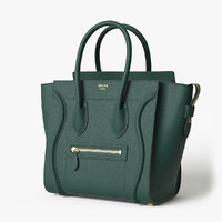 Celine Luggage Handbag Green