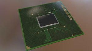 3D model laptop processor