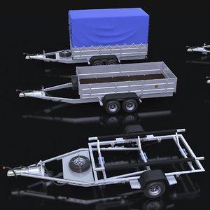 3D trailers cars model