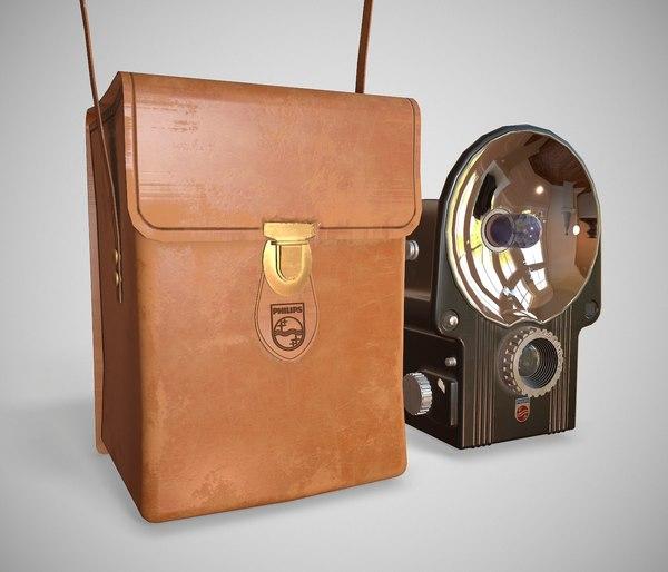 3D philips flash camera bag model