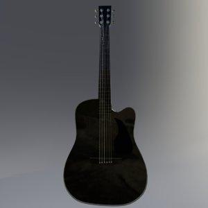 3D pbr guitar