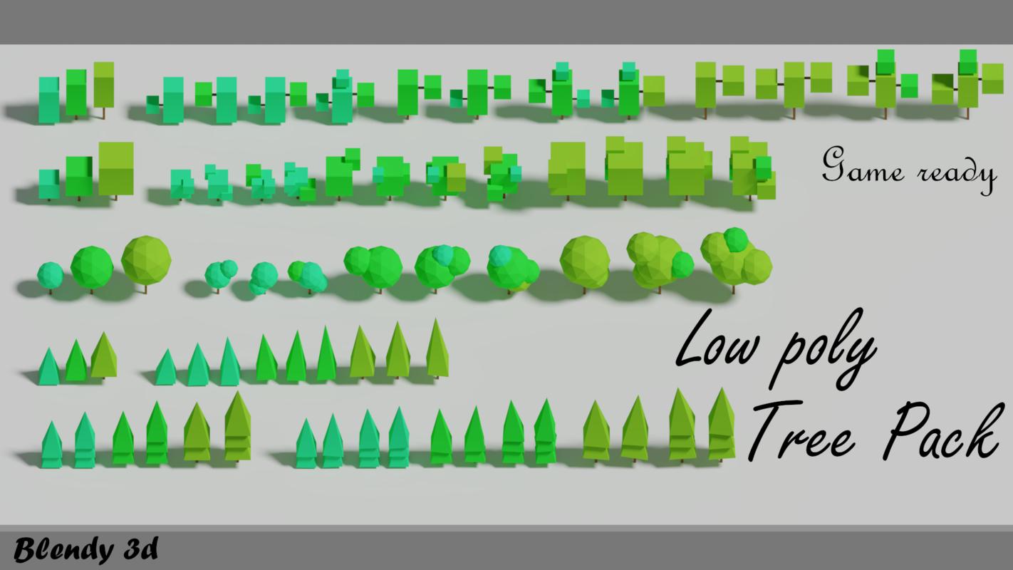 3D cartoon tree pack