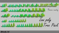 3D cartoon tree pack