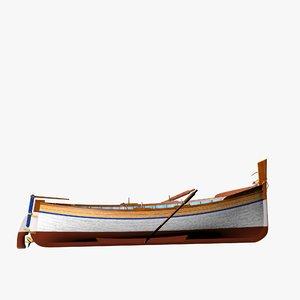 3D fishing motor boat spanish