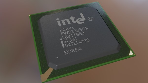 chip set 3D model