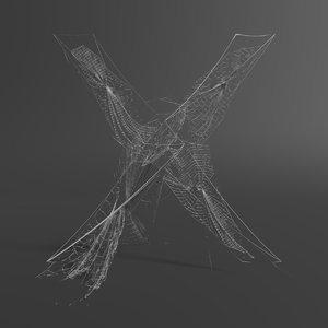 3D spider web letter