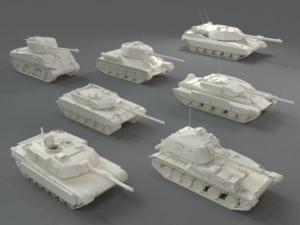 3D tanks - 7 pieces