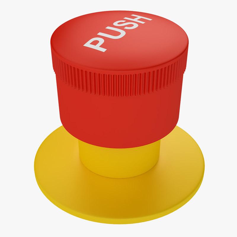 industrial button 3D