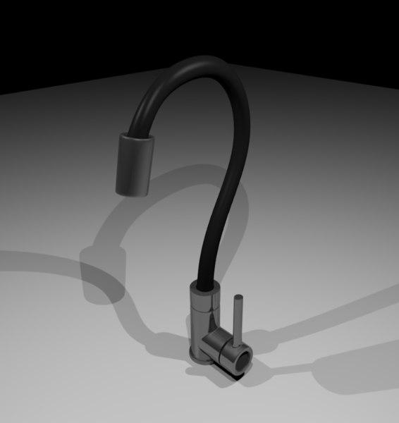 3D mixer faucet model