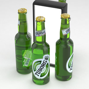 3D model beerbottle beverage