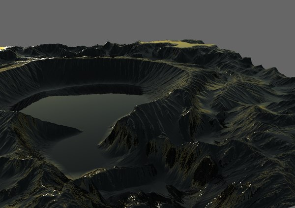 3D model crater world machine