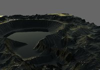 3d Crater Valley Level