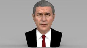 3D model president george w bust