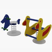 spring swing 3D model