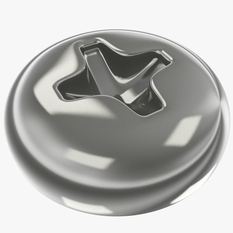 3D model head screw