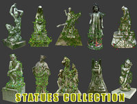 Statues Collection 02 - Low Poly