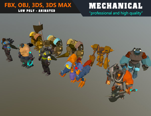 mechanical mech robot - 3D