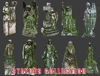 Statues Collection 01 - Low Poly