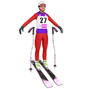 female skier woman ski model